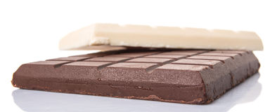 White And Dark Brown Chocolate II Royalty Free Stock Images