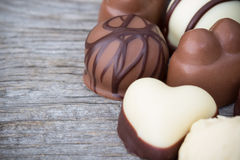 White and dark chocolate truffles Royalty Free Stock Photography