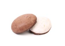 White and dark kiss cookies Stock Image