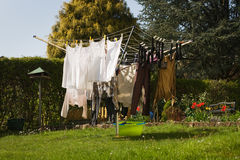 White and Dark Laundry Royalty Free Stock Photography