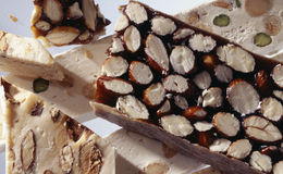 White and dark nougat Royalty Free Stock Images
