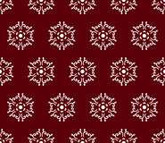 White on dark red caucasus seamless pattern Royalty Free Stock Images