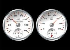 White dashboard Stock Image