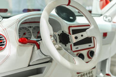 White dashboard of a modern car Stock Images