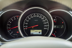White dashboard of new car Stock Photography