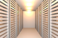 White data room Royalty Free Stock Photo
