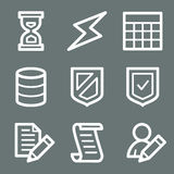 White database web icons Royalty Free Stock Images