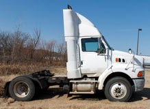White Day Cab Big Rig Truck Stock Photography