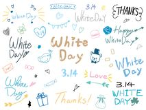 White day logos vector illustration