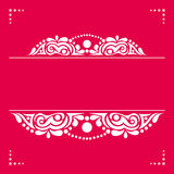 White decorative element on a pink background for cards, invitat Stock Photography