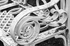 White decorative forged pattern Royalty Free Stock Image