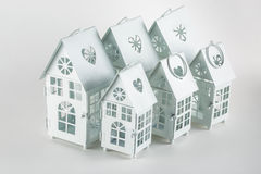 White decorative houses Stock Image