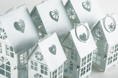 White decorative houses Royalty Free Stock Photography