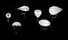 White decorative lanterns Stock Images