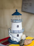 White decorative lighthouse Stock Images