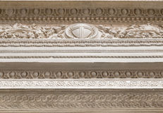 White decorative plaster moldings Royalty Free Stock Image