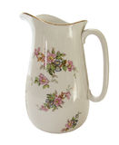 White decorative water jug Royalty Free Stock Images