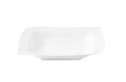 White deep square plate stock photography