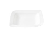 White deep square plate stock images