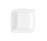 White deep square plate royalty free stock images