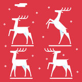 White deer silhouette logo icon new year symbol Royalty Free Stock Photo