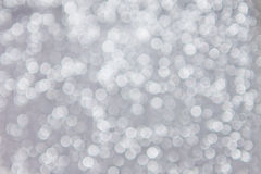 White defocused lights on grey background Stock Photo
