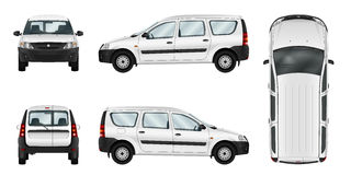 White delivery car vector template Stock Image