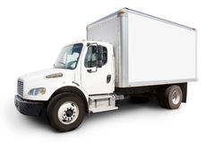 Free White Delivery Truck Royalty Free Stock Image - 5588876
