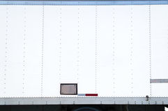 White Delivery Truck With Blank Side. Blank white side of a delivery truck Royalty Free Stock Photos