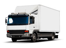 White delivery truck Stock Images