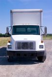 White Delivery Truck isolated Stock Photo