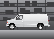 White delivery van Stock Images