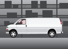 White delivery van Royalty Free Stock Photos