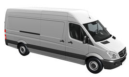 White delivery van Royalty Free Stock Photo