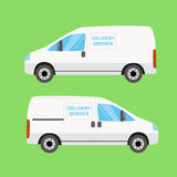 White delivery van twice Stock Photos