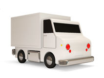 White Delivery Van on white background Stock Image