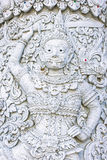 White demon guardian at Ming Mueang temple, Nan province, Thaila Stock Image