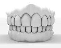 White denture Stock Photo