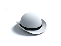 White derby hat Stock Photos