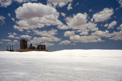 White Desert with Buildings Stock Image