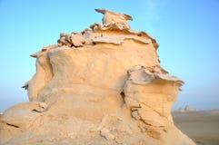 White desert in Egypt. Scenery of the famous white desert in Egypt Stock Photo