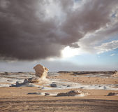 White desert in Egypt Stock Photo