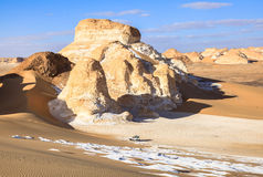White Desert, Egypt. A main geographic attraction of Farafra is its White Desert (known as Sahara el Beyda, with the word sahara meaning a desert). The White stock photo