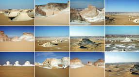 White Desert, Egypt Royalty Free Stock Photos