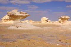 White desert in Egypt Royalty Free Stock Photo