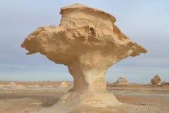 White Desert at Farafra in the Sahara of Egypt Stock Image