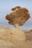 White Desert at Farafra in the Sahara of Egypt Royalty Free Stock Photo