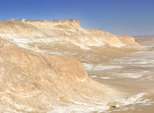 White desert mountains Royalty Free Stock Image