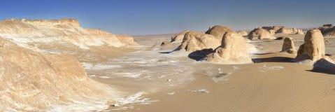 White desert mountains panorama Royalty Free Stock Photos