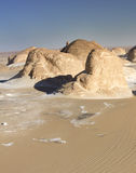 White desert mountains panorama Royalty Free Stock Images